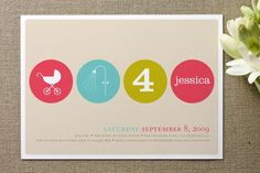 Baby shower invitation.