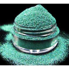 Glitter-Green Cosmetic Glitter Rainforest ($4) ❤ liked on Polyvore featuring beauty products, makeup, frames & background, glitter, bath & beauty, black, eye shadows, eyes and makeup & cosmetics