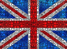 British Flag Painting - British Flag - Britain England Stone Rockd Art by Sharon Cummings Canvas Art Prints, Fine Art Prints, Flag Painting, Collage Background, Uk Flag, Rock Painting Ideas Easy, Large Artwork, We Are The World, Buy Art Online