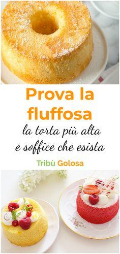 Le #foodbloggers italiane impazziscono per la #fluffosa , una #ciambella altissima e morbidissima, leggera come una nuvola. Si tratta di una #torta di origine anglosassone, chiamata anche #chiffoncake o #angelcak e, la particolarità di questa #torta è la sua estrema altezza, e la sensibilità del suo impasto al tocco. #tribugolosa #gourmettribe #golosiditalia #cucina #cucinaitaliana #cucinare #italianrecipes #food #italianfood #foodstyling #yummy #foodlover #ricette Torta Angel, Angel Cake, Torta Chiffon, Peach Crumble Pie, American Cake, Sweet And Salty, Sweet Bread, Creative Food, Cake Cookies
