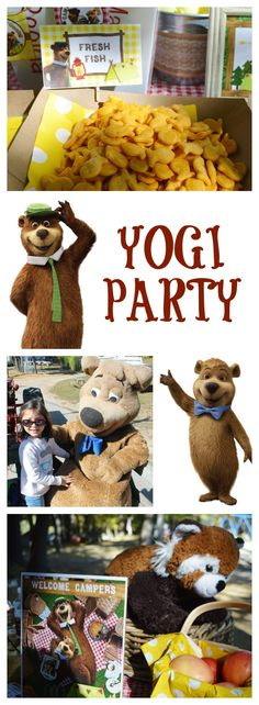 YOGI PARTY IDEAS - CAMPING PARTY 1st Birthday Themes, 1st Boy Birthday, Birthday Parties, Birthday Ideas, Yogi Bear Camping, Projects For Kids, Crafts For Kids, Bear Theme, Bear Party