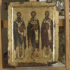Monastery of Vatopedi, Agion Oros Byzantine Icons, Byzantine Art, Church Interior, Orthodox Icons, Illuminated Manuscript, Religious Art, Fresco, Medieval, Saints