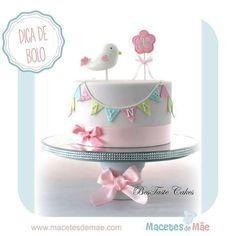 Inspiration Image of Bird Birthday Cake - birthday cake images - Bird Cakes, Cupcake Cakes, Girl Cupcakes, 1st Birthday Cake For Girls, Cake Birthday, 31 Birthday, Birthday Ideas, Princess Birthday, Birthday Parties
