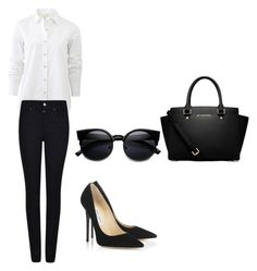 """Untitled #148"" by aandreead ❤ liked on Polyvore featuring rag & bone, Armani Jeans, Jimmy Choo and MICHAEL Michael Kors"