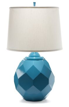 One Kings Lane - Beside the Bed - Jewel Lamp, Peacock Blue