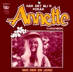 """""""Når det bli'r forår"""" single med Annette Klingenberg. B-siden er en dansk version af en Engelsk Grand Prix-sang (Var der en jord)."""