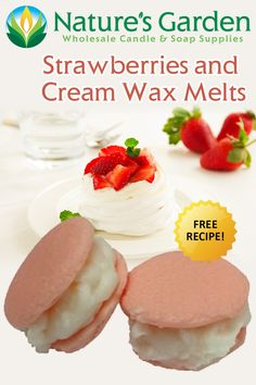Strawberries and Cream Wax Melts Recipe