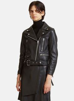 Women's Designer Jackets - Clothing | Order Now at LN-CC - Mock Leather Motorcycle Jacket