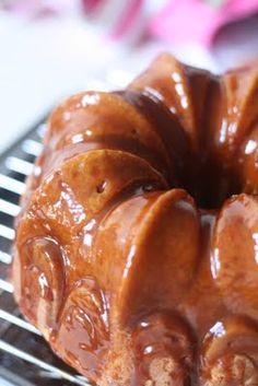 Toffee Vanilla Bean Bundt Cake with Caramel Sauce and Sea Salt {recipe}
