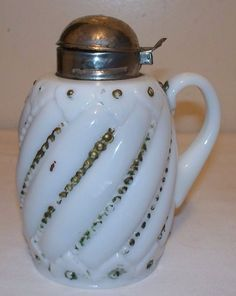 Swirl and Leaf syrup pitcher