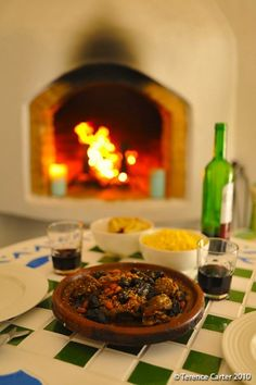Perfect winter's meal in front of an open fire.