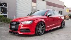 Red Audi, Audi A3 Sedan, Single Storey House Plans, Roadster Car, Sedans, Audi Cars, Cars Motorcycles, Cool Cars, Euro