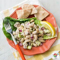 Mediterranean Chicken and White Bean Salad #veggies #protein #MyPlate #WhatsCooking