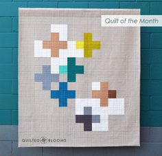 I am excited to share my quilt, Positively Transparent, which was chosen by the Modern Quilt Guild for the August 2017 Quilt of the Month. Small Quilts, Mini Quilts, Baby Quilts, Quilting Tips, Quilting Designs, Modern Quilting, Charm Pack Quilt Patterns, Plus Quilt, Cross Quilt