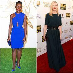 Lupita Nyong'o in Stella McCartney vs. Cate Blanchett in Lanvin. Click through to vote!
