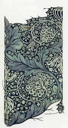 'Avon' textile design by William Morris, produced by Morris & Co in 1886 __ posted on flickr by John Hopper, for The Textile Blog