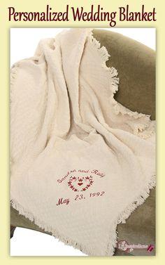 Elegant Handkerchiefs Blankets Embroidered For Weddings Baptisms