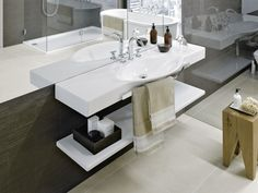 The Swiss brand LAUFEN stands for Swiss quality and design. The company offers total bathrooms concepts all over the world. Home, Bathroom Sets, Palace, Bathroom, Laufen Bathroom, Sink