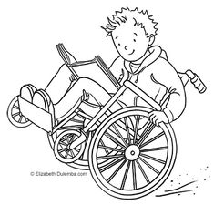 wheelchair, coloring sheets - Yahoo Image Search Results
