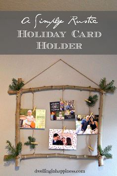 Rustic Holiday Card Holder