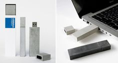 USBéton by Kix Berlin is a contemporary USB stick made of concrete. The rough material creates a distinctive industrial aesthetic.