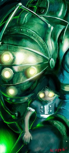 Bigdaddy - BioShock by bloodink6