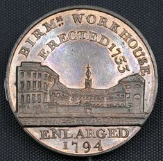 ", (Kempson's) Halfpennies, ""Building Series"" (6), including: Birmingham Workhouse, 'Erected 1733, Enlarged 1794', 11.55g, 6h (D&H 186), residual mint colour,… / MAD on Collections - Browse and find over 10,000 categories of collectables from around the world - antiques, stamps, coins, memorabilia, art, bottles, jewellery, furniture, medals, toys and more at madoncollections.com. Free to view - Free to Register - Visit today. #Coins #Tokens #MADonCollections #MADonC"