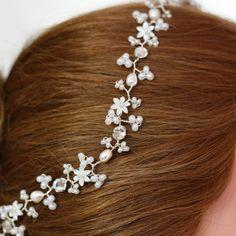 Frente novia banda cabello vine banda de por SimplyFayeTiaras