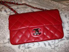 Chanel mini red classic flap 14C