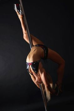 Pole Picture of the Day: Lou Landers, photo by Pole Dance Photography by Adam Jay.