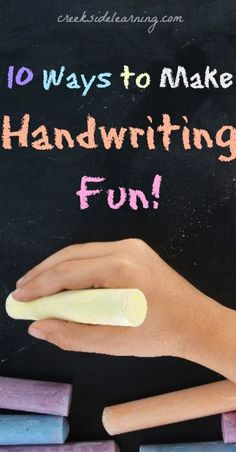 Really fun ideas to make handwriting fun for kids. Creative writing practice activities for home or classroom