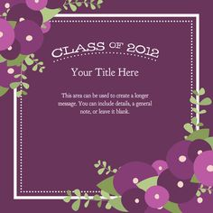 Class of 2012 {Purple Possys} designed by Kellie Medivitz on pingg.com