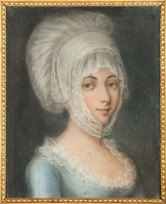 Portrait of a woman in regional costume, 18th century, French school