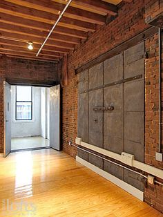 ... original features include rough-cut cross beams and #exposed #brick #walls. #paredes #rusticas