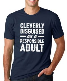 Navy 'Cleverly Disguised' Tee - Men's Regular