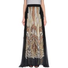 Alberta Ferretti Long Skirt ($1,015) ❤ liked on Polyvore featuring skirts, khaki, long skirts, khaki skirts, long ruched skirt, colorful maxi skirts and long khaki skirt