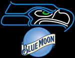 Blue Moon Seattle Seahawks NFL Neon Sign, Blue Moon with NFL Neon Signs | Blue Moon Neon Beer Signs & Lights. Makes a great gift. High impact, eye catching, real glass tube neon sign. In stock. Ships in 5 days or less. Brand New Indoor Neon Sign. Neon Tube thickness is 9MM. All Neon Signs have 1 year warranty and 0% breakage guarantee.
