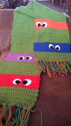Ninja Turtles Crocheted Scarf