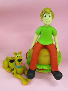 3bddc62201 Scooby Doo  amp  Shaggy  clay  cake  topper by Wilson Cabral Fondant Cake