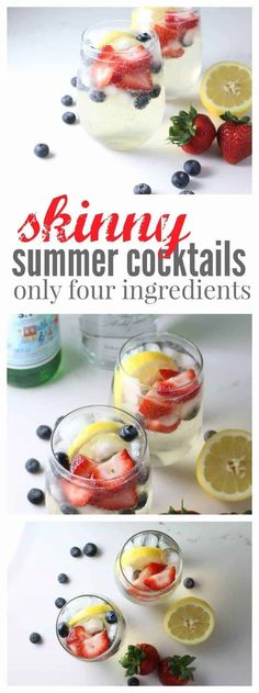 Summer is just around the corner and this skinny summer cocktail is going to get your sunny days off to an amazing start! Vodka, Pellegrino and some fresh fruit, perfect to sip by the pool. Low Calorie Vodka, Low Calorie Cocktails, Keto Cocktails, Low Calorie Recipes, Cocktail Recipes, Drink Recipes, Yummy Recipes, Skinny Girl Drinks, Pool Drinks