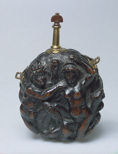 Late 17th century German Powder flask at the State Hermitage Museum, St. Petersburg - Found via OMG that Artifact!