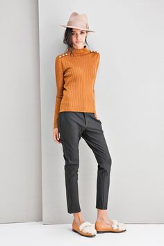 Double Layers Warm Skinny Stripes Pants PA0115
