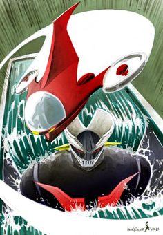 Robot Cartoon, Cartoon Tv, Vintage Cartoon, Old Cartoons, Classic Cartoons, Koji Kabuto, Days Anime, Super Images, Mecha Anime