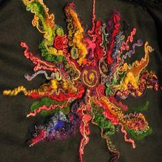 Needled yarn (back of a coat)