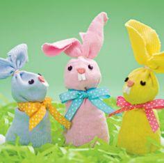 Coniglietti fatti con i calzini