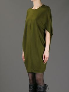 Gucci Boxy Cocoon Dress in Green (olive) Blouse And Skirt, Blouse Dress, Knit Dress, Dress Skirt, High Street Fashion, Cocoon Dress, Gucci Dress, Mode Inspiration, Sewing Clothes