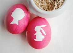 How cute! Silhouette Easter eggs