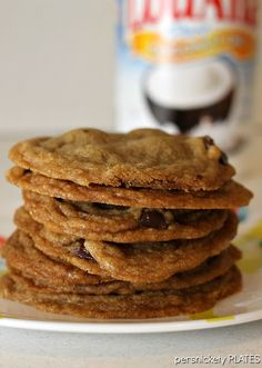 Coconut Oil Dark Chocolate Chip Cookies on MyRecipeMagic.com