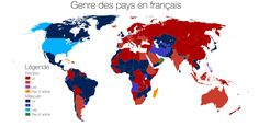 I've made a map showing the genders of countries in French. I thought you could find it interesting. - Imgur