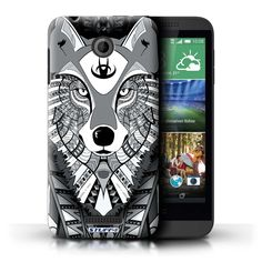 45ae12fe19bfd4 Amazon.com  STUFF4 Phone Case   Cover for HTC Desire 510   Wolf-Blue Design    Aztec Animal Design Collection  Computers   Accessories